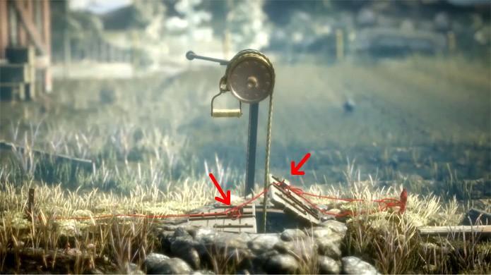 Abra as portas do poço em Unravel para encontrar um item útil escondido (Foto: Reprodução/Rafael Monteiro)