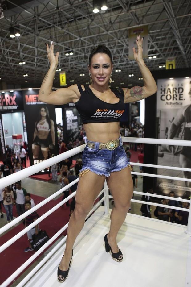 Fabiana Frota no Arnold Classic (Foto: Isac Luz/EGO)