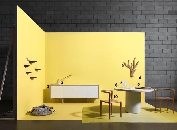 Ambiente minimalista amarelo (Foto: Carlos Cubi / Editora Globo)