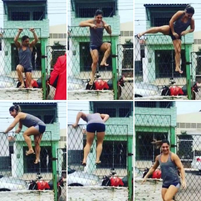 BLOG: Bethe Correia pula muro de academia para treinar no carnaval; vídeo