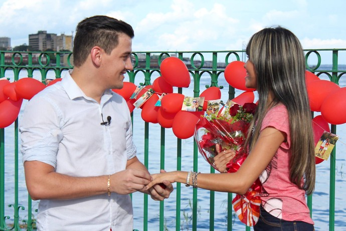 Pedido de casamento foi feito no Parque Rio Negro, em Manaus (Foto: Michell Mello)