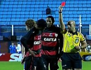 Cartão Vermelho - Jorginho, Atlético-GO (Foto: Reprodução / PFC)