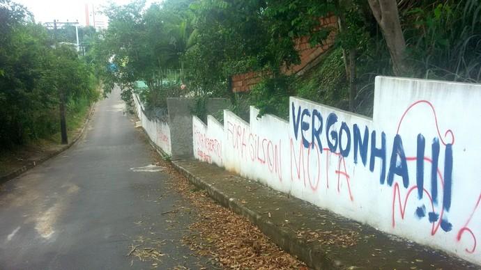 Protesto Nacional Amazonas (Foto: katiuscia Monteiro/Rede Amazônica)