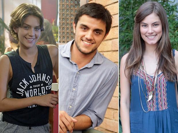 Isabella Santoni, Felipe Simas e Bruna Hamú falam da nova relação de irmãos (Foto: Felipe Monteiro - Raphael Dias - Felipe Monteiro  / Gshow)