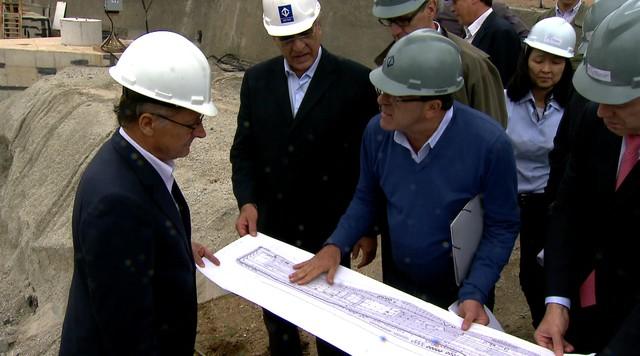 Geraldo Alckmin visita obras do monotrilho