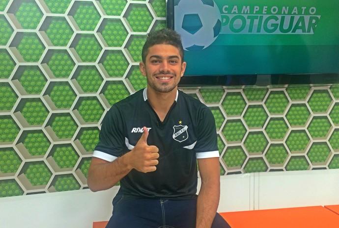 ABC - Gegê, meia - entrevista ao Globo Esporte RN (Foto: Klênyo Galvão/Inter TV Cabugi)