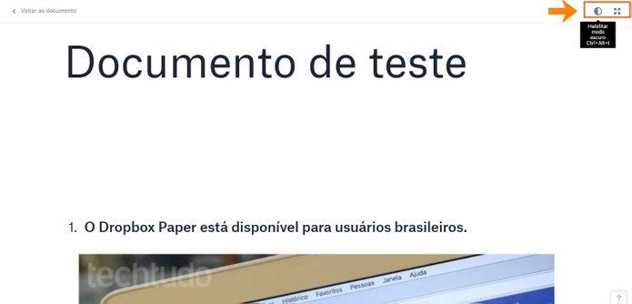 Exiba o documento como uma apresentação no computador (Foto: Reprodução/Barbara Mannara)