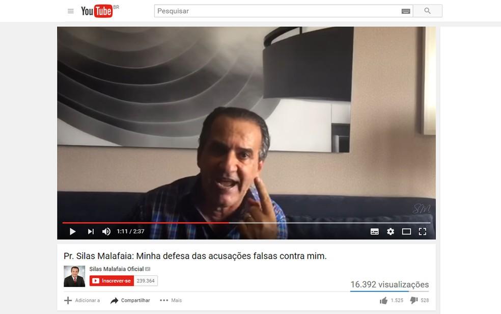 Silas Malafaia se diz indignado com acusações contra ele (Foto: Reprodução/Youtube)