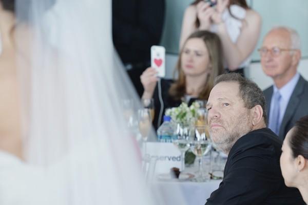 O produtor Harvey Weinstein durante um desfile de moda (Foto: Getty Images)