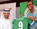 Jô é apresentado no Al Shabab e revela sonho de voltar à Seleção