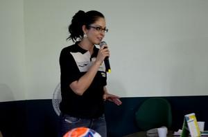Ana Paula Oliveira, ex-auxiliar e atual secretária da Escola Nacional de Arbitragem de Futebol (Foto: Quésia Melo)