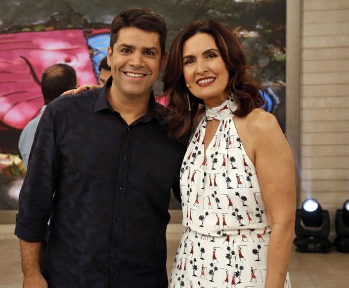 Fátima com o parceiro Lair Rennó (Foto: Raphael Dias/Gshow)