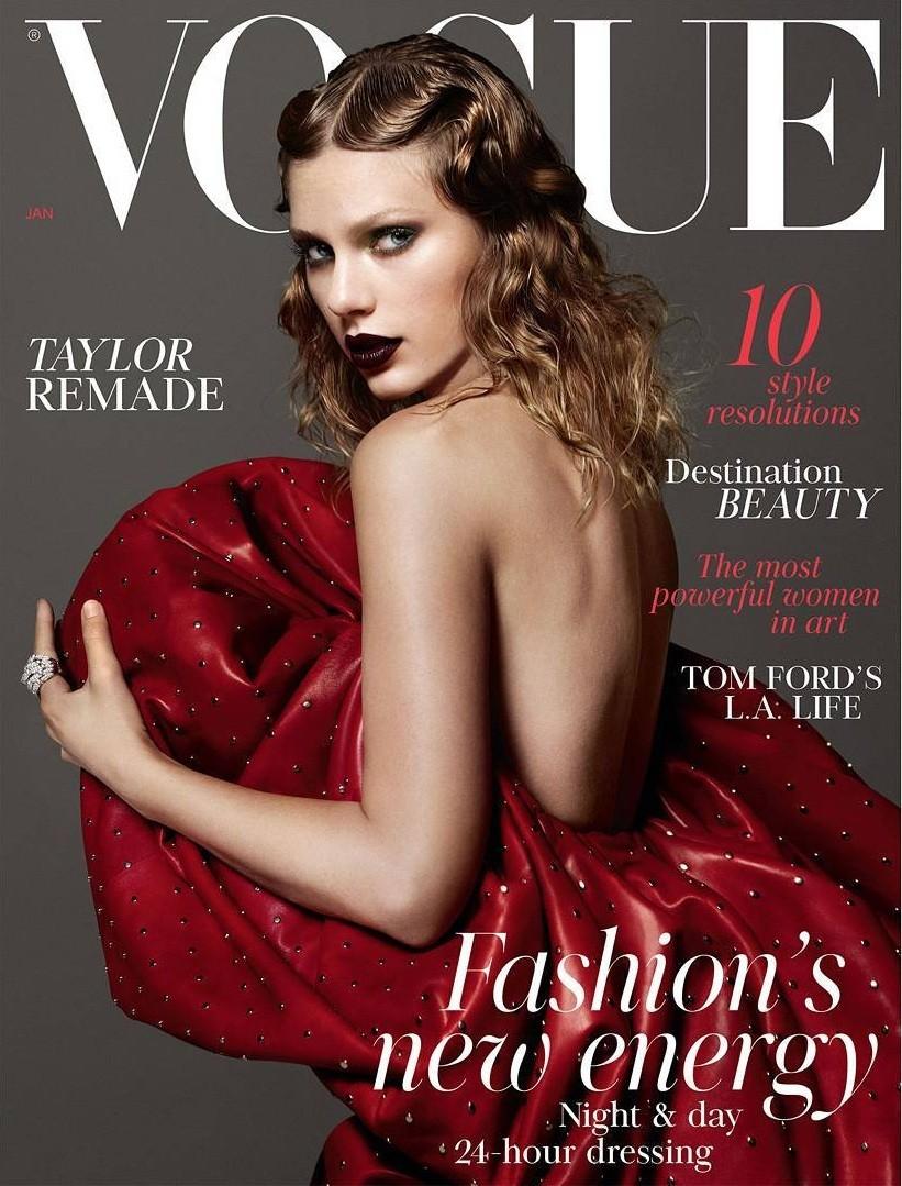 Taylor Swift na capa da Vogue britânica de janeiro de 2018 (Foto: Mert and Marcus)