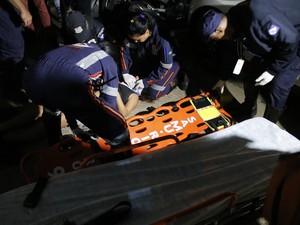 Mulher ficou inconsciente após ser agredida em Rio Claro (Foto: André Miranda/O Jornal)