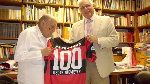 Oscar Niemeyer e Marcio Braga, Flamengo (Foto: Divulgação)