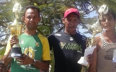 Rubson Santos - Vencedor Corrida Círio Santo Antônio Oriximiná (Foto: Arquivo Pessoal Rubson Santos)