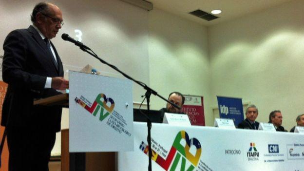 Gilmar Mendes comparou a democracia brasileira à cleptomania (Foto: Mamede Filho)