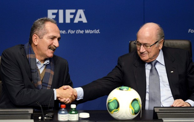 Joseph Blatter Aldo Rabello copa do mundo 2014 (Foto: EFE)