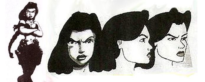 Projetos de Lara na concepção do game (Foto: Reprodução/Uproxx)