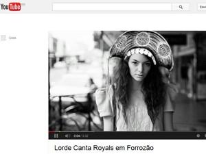 """Montagem de fã no YouTube em vídeo com a versão forró de """"Royals"""", de Lorde (Foto: Reprodução / YouTube)"""