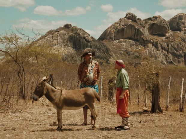 Falcão e Edmilson Filho em cena do filme (Foto: Divulgação)