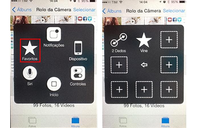 Configuração de gesto no iOS8 (Foto: Reprodução/André Sugai)