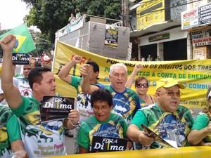 Manifestação em Belém (Foto: Alexandre Yuri/G1)