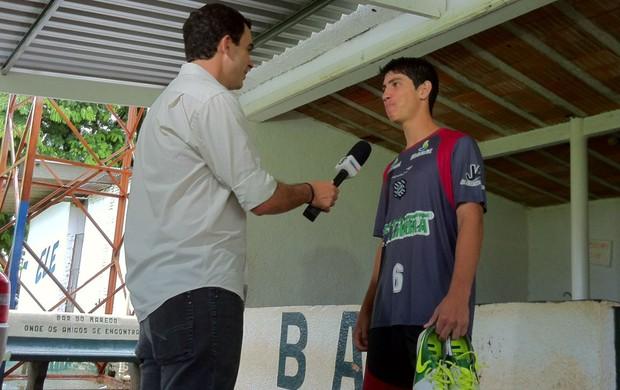 Jogador Brandon Ruiz do Figueirense na Copa São Paulo de Juniores (Foto: Fernando Vidotto / TV Globo)