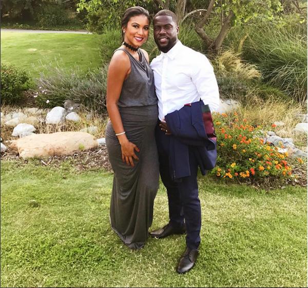 O ator Kevin Hart com a esposa grávida (Foto: Instagram)