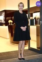 Look do dia: Kate Winslet usa pretinho básico em Londres