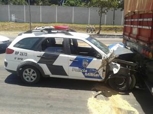 Soldados da polícia se ferem em acidente durante perseguição no Espírito Santo (Foto: A Gazeta)