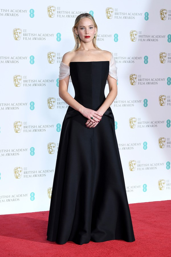 Jennifer Lawrence no BAFTA (Foto: Getty Images)