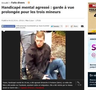 Adolescentes foram detidos após agredir doente mental (Foto: Le Parisien/reprodução)