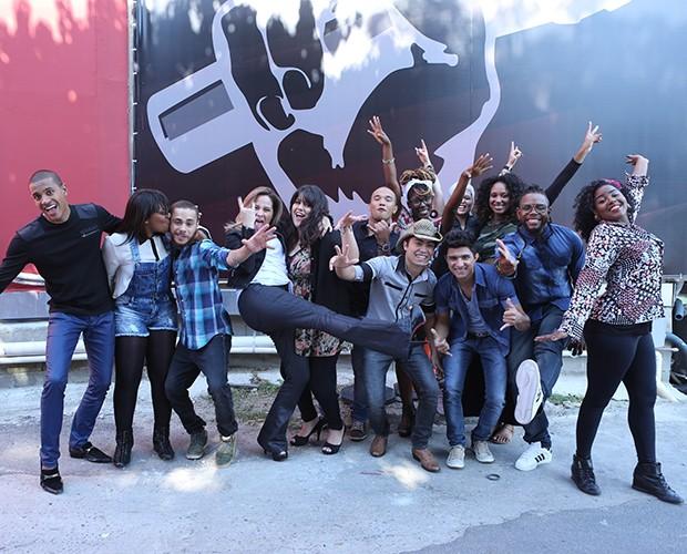 Time Carlinhos Brown (Foto: Isabella Pinheiro/ Gshow)