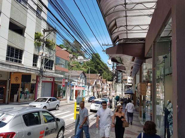 Rua Teresa em Petrópolis (Foto: Bruno Rodrigues/G1)