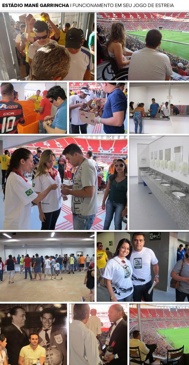MOSAICO - Estádio mané garrincha Funcionamento (Foto: Fabrício Marques)