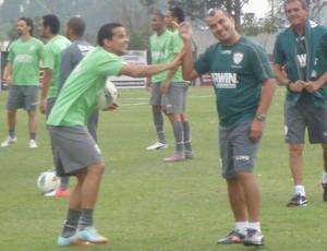 Bruno Mineiro, em treinamento da Portuguesa (Foto: Rodrigo Faber / Globoesporte.com)