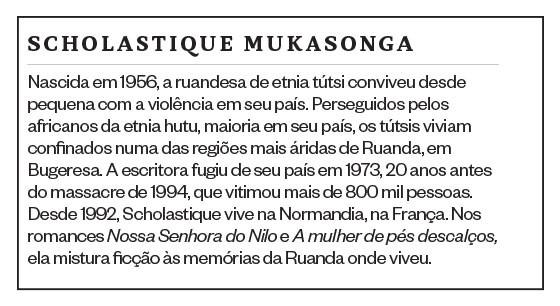 SCHOLASTIQUE MUKASONGA A escritora ruandesa conta como o genocídio em seu país liquidou sua família e como a tragédia foi determinante para que ela decidisse enveredar pela literatura (Foto: reprodução)