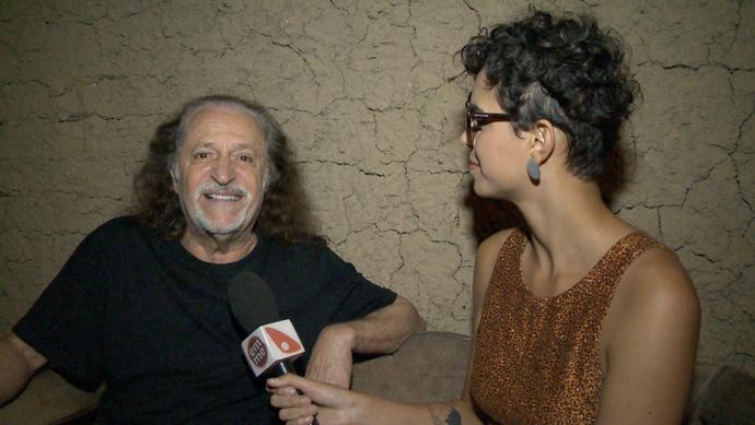 Alceu Valença elogia Itaúnas por manter o forró tradicional vivo (Foto: Divulgação / TV Gazeta ES)