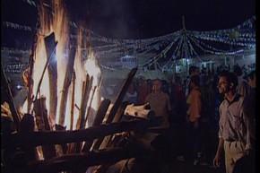 festa junina fogueira (Foto: Reprodução/TV Globo)