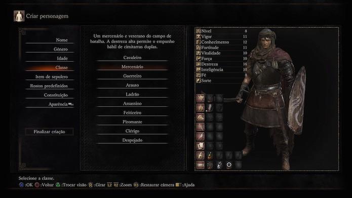 Dark Souls 3: mercenário (Foto: Reprodução/Victor Teixeira)