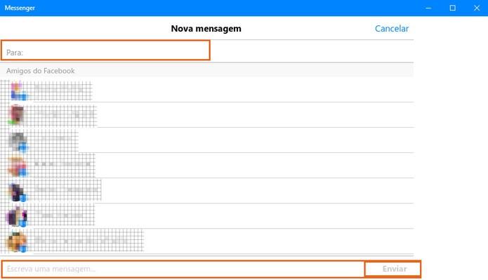 Envie por uma mensagem privada ou em grupo no Facebook Messenger pelo PC (Foto: Reprodução/Barbara Mannara)