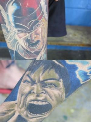 Tatuagens de personagens (Foto: Mariane Rossi/G1)