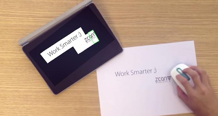 Mouse promete escanear texto instantaneamente (Foto: Reprodução/Indiegogo)