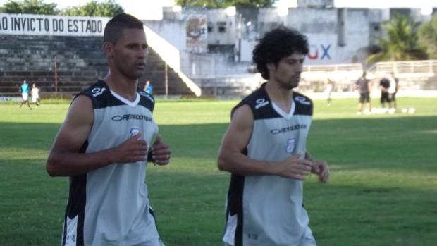 Cleidson e Cristian são os novos reforços do Treze (Foto: Silas Batista)