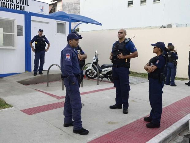 Guarda de Vitória critica condição de trabalho e não sai de postos, espírito santo (Foto: Ricardo Vervloet/A Gazeta)