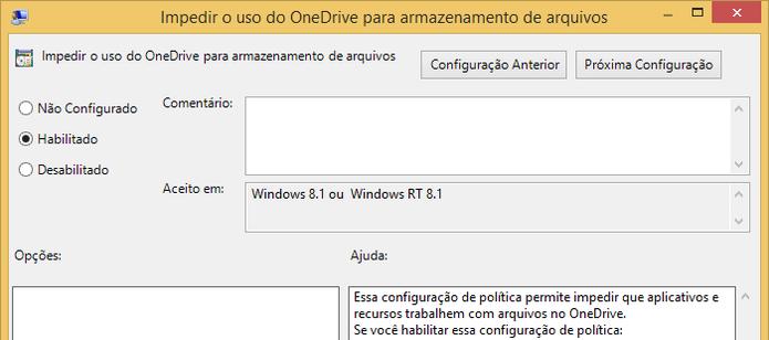 Desativando a integração do OneDrive com o Windows 8 (Foto: Reprodução/Helito Bijora)