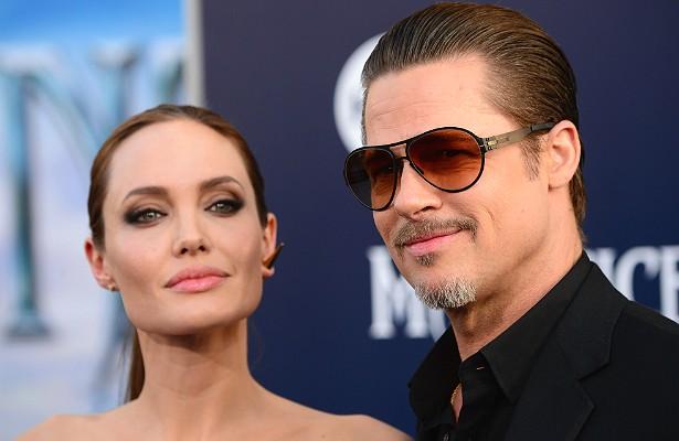 """Brad Pitt raramente perde a oportunidade de expressar publicamente seu afeto pela esposa, Angelina Jolie. Em 2013, por exemplo, o ator deu uma entrevista em que disse que """"a coisa mais inteligente e grandiosa"""" que fez foi dar a seus filhos uma mãe como """"Angie"""" — apelido carinhoso que ele usa para se referir à parceira. (Foto: Getty Images)"""