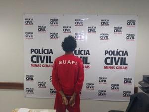 Suspeito de abandonar ossada confessa assassinato em Uberaba (Foto: Gabriela Almeida/TV Integração)