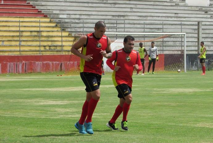 Globo FC - Luizão, atacante - Renatinho Potiguar, meia (Foto: Rhuan Carlos/Divulgação)